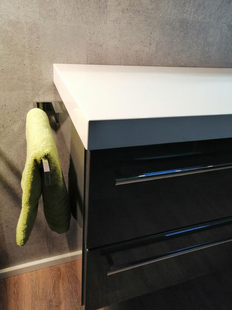 PROKIRA Handtuchhalter Handtuchstange Massiv Chrom