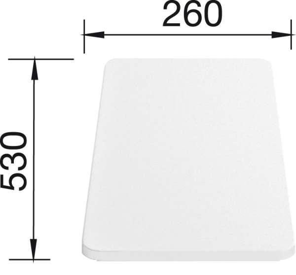 BLANCO Schneidbrett Zubehör / Kunststoff / Weiß
