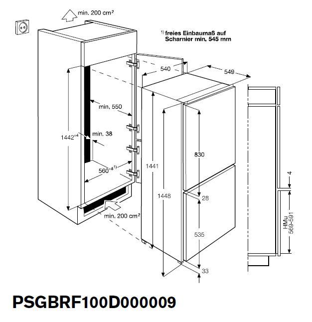 zanussi zbb 24431 sa k hl gefrierkombination prokira k che bad mehr. Black Bedroom Furniture Sets. Home Design Ideas